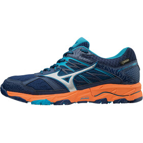 Mizuno Wave Mujin 5 GTX Chaussures de trail Femme, estate blue/silver/hawaiian ocean